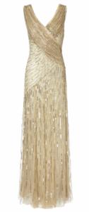 Ariella - Juliet Sequin Gown Gold  (Hire - £69)