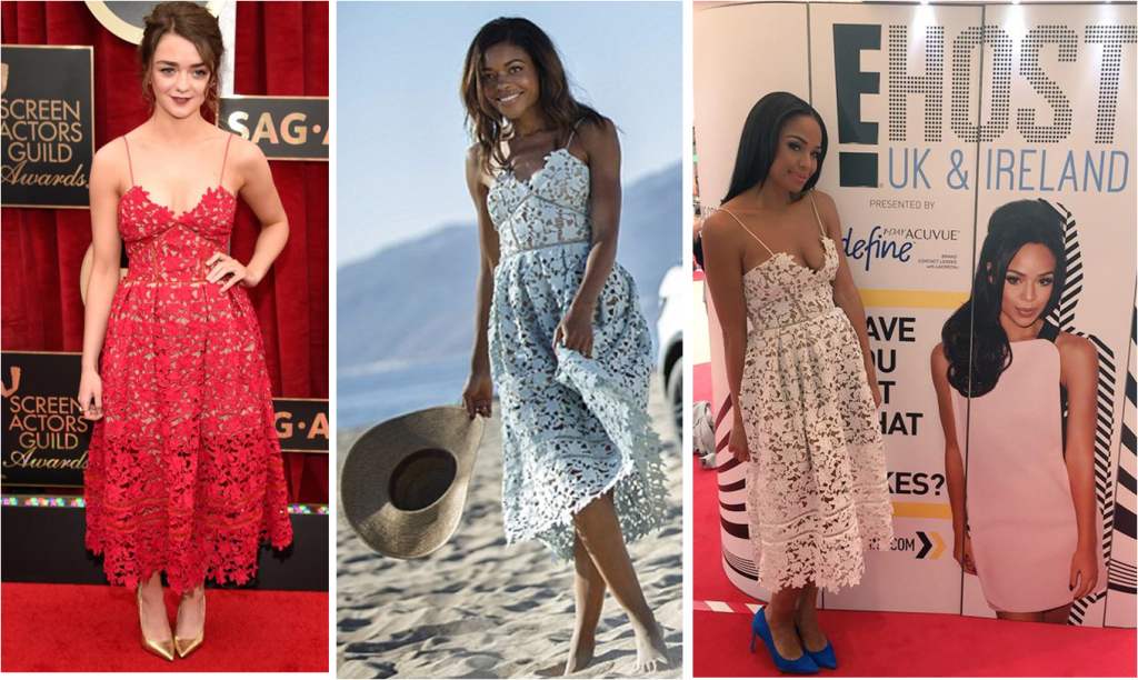 Celebrities in Self Portrait Dresses 1