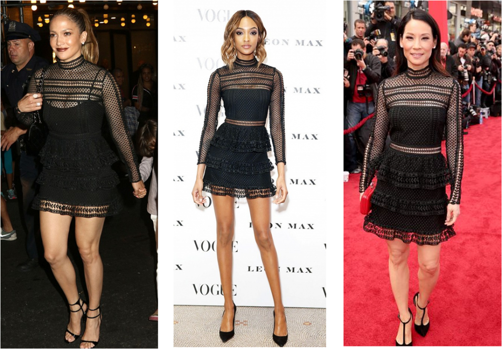 Celebrities in the Black Self Portrait Dress