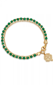 yellow-gold-vermeil-green-onyx-four-leaf-clover-biography-bracelet 1