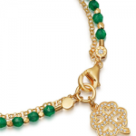 yellow-gold-vermeil-green-onyx-four-leaf-clover-biography-bracelet 2