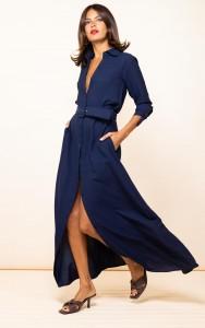 Dress hire London DOVE DRESS IN NAVY